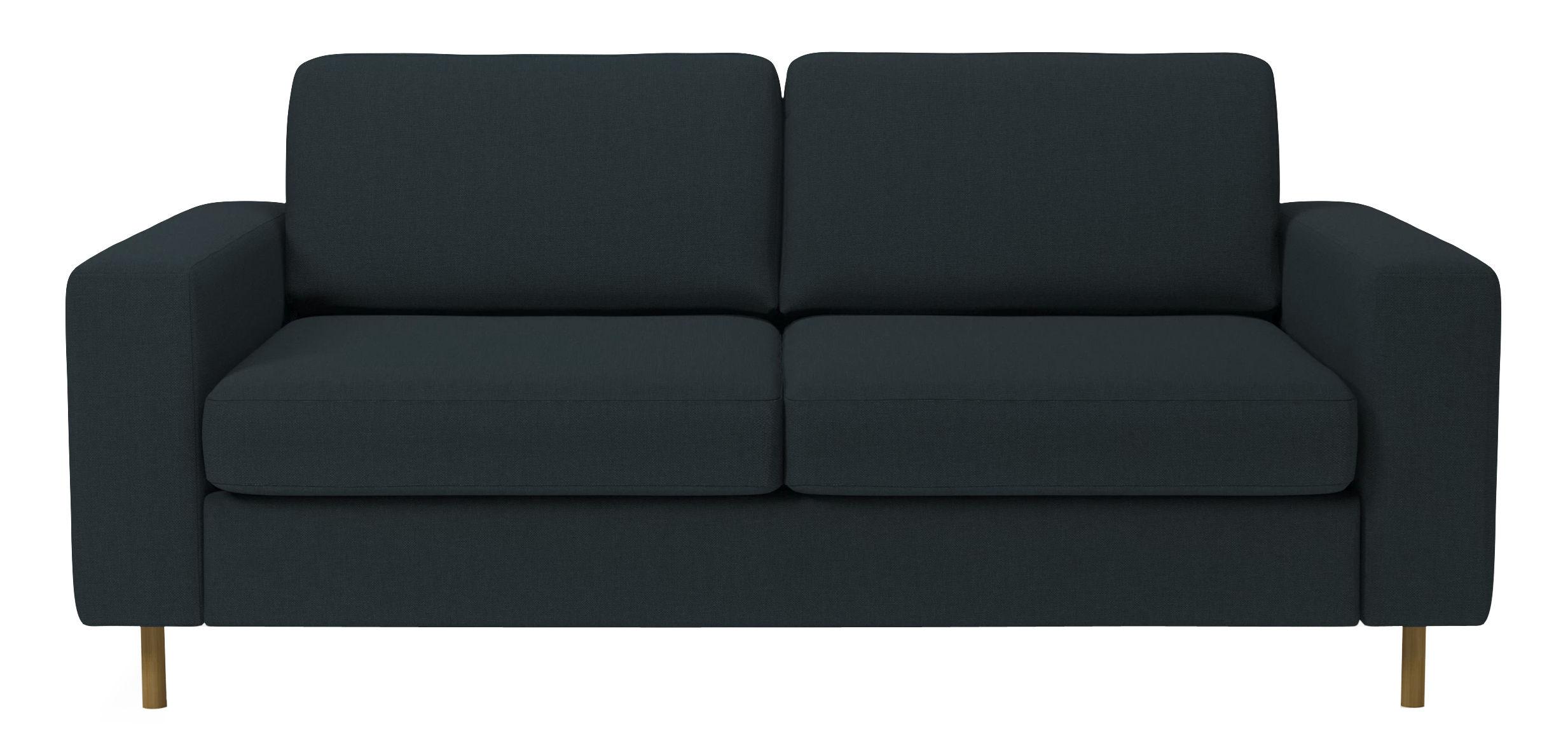 canap convertible scandinavia 2 places l 208 cm bleu. Black Bedroom Furniture Sets. Home Design Ideas