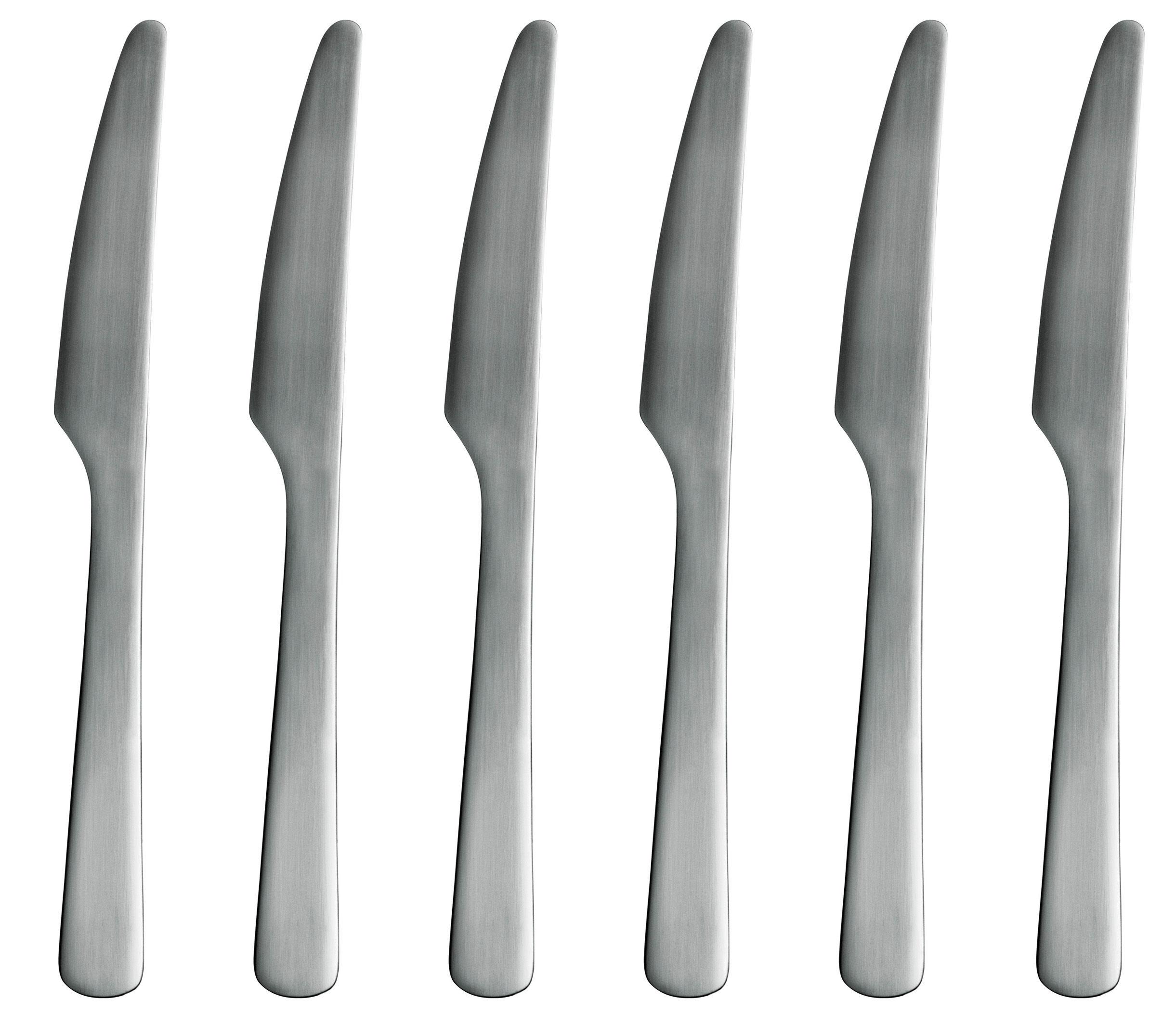 Tavola - Posate - Coltello da tavola Normann - lotto da 6 di Normann Copenhagen - Acciaio Mat - Acciaio