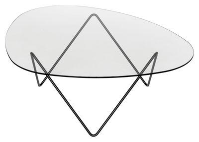 Möbel - Couchtische - Pedrera Couchtisch H 38 cm - Neuauflage von 1955 - Gubi - Schwarz - bemalter Stahl, Glas