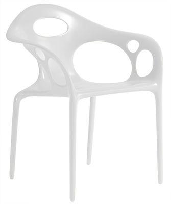 Fauteuil empilable Supernatural / Plastique - Moroso blanc en matière plastique