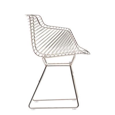 Mobilier - Chaises, fauteuils de salle à manger - Fauteuil Flow Filo - MDF Italia - Chromé - Acier