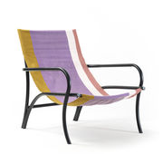 Chaise Maraca Coton ames noir,violet,ocre en tissu
