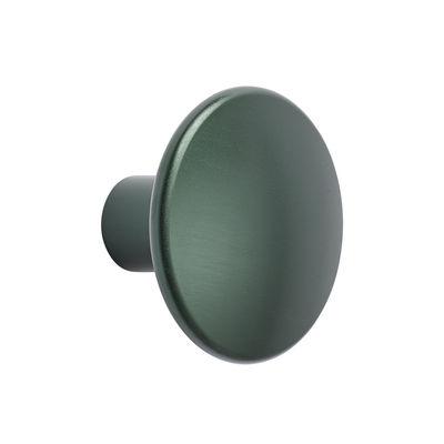 Furniture - Coat Racks & Pegs - The Dots Métal Hook - /  Ø 3.9 cm by Muuto - Dark green - Steel