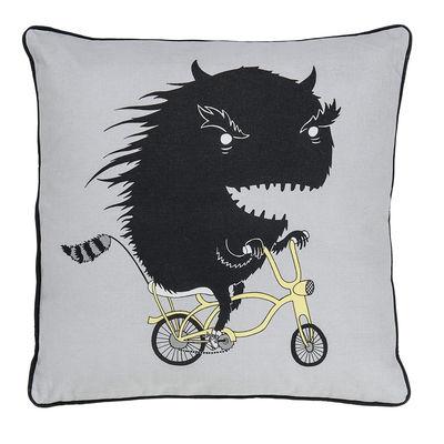 Monstre vélo Kissen / 50 x 50 cm - Bloomingville - Grau,Schwarz