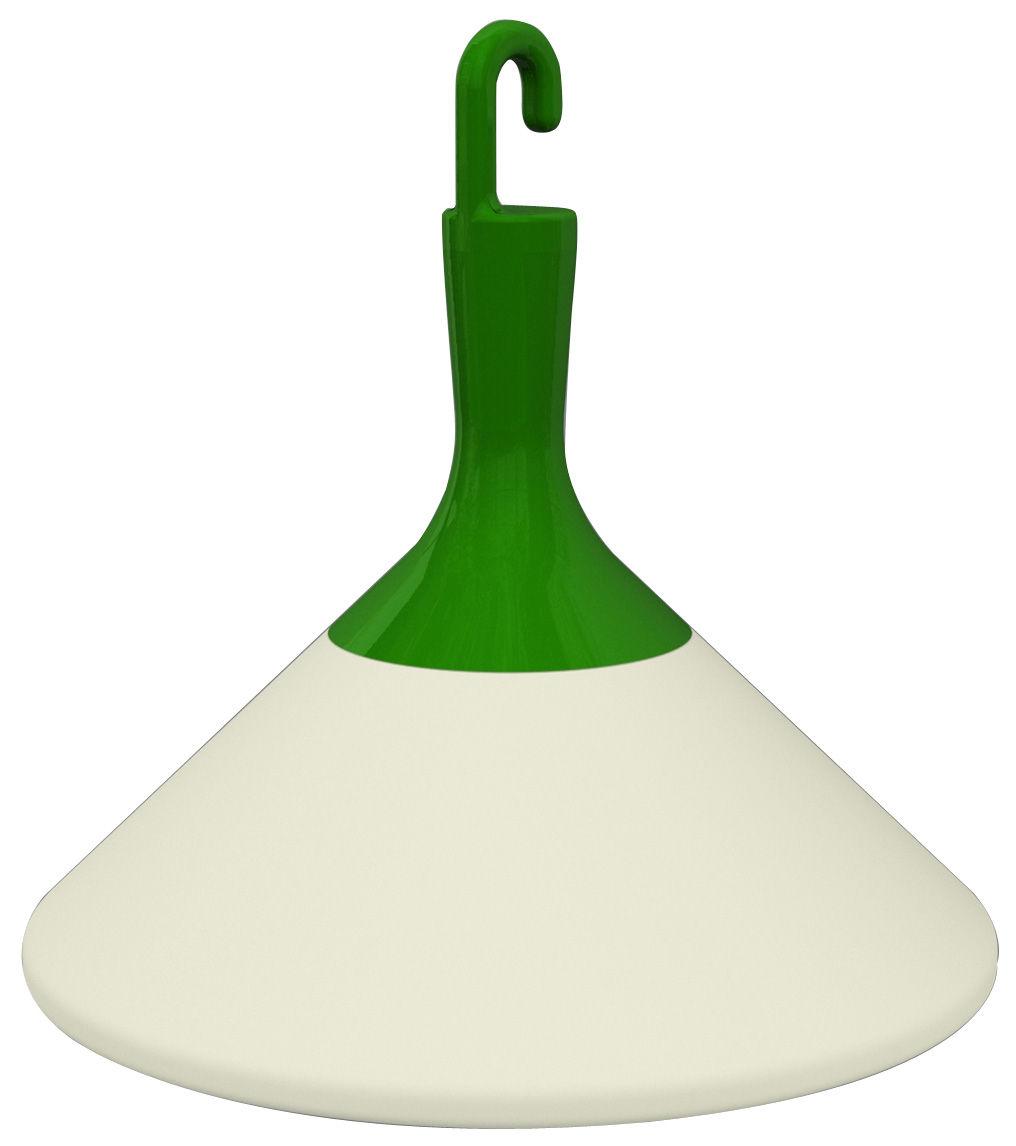 Illuminazione - Illuminazione da esterni - Lampada da pavimento Zelight - da interno / esterno di Driade - Bianco / Gancio verde - Polietilene