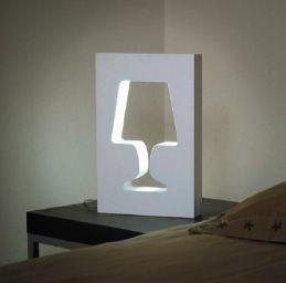 Illuminazione - Lampade da tavolo - Lampada da tavolo Outlight di La Corbeille - Bianco - MDF laccato