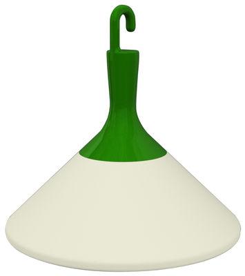 Luminaire - Luminaires d'extérieur - Lampe de sol Zelight intérieur / extérieur - Driade - Blanc / Crochet vert - Polyéthylène