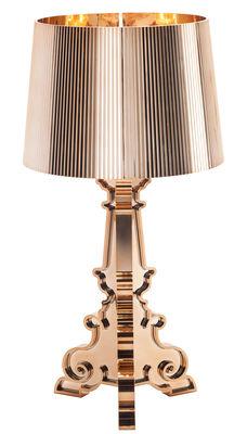 Lampe de table Bourgie / Métallisée - Kartell cuivre en matière plastique