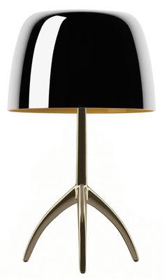 Lampe de table Lumière Grande / Variateur - H 45 cm - Edition 25 ans - Foscarini aluminium poli,champagne en métal