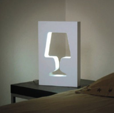Lampe de table Outlight - La Corbeille blanc en bois