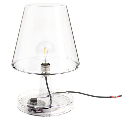 Lampe de table Trans-parents / Ø 32 x H 50 cm - Fatboy transparent en matière plastique