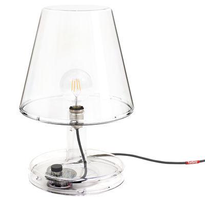 Lampe de table Trans-parents / Ø 32 x H 50 cm - Fatboy transparent en matière plastique