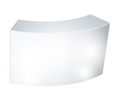 Furniture - High Tables - Snack Luminous bar - Luminous by Slide - White - recyclable polyethylene
