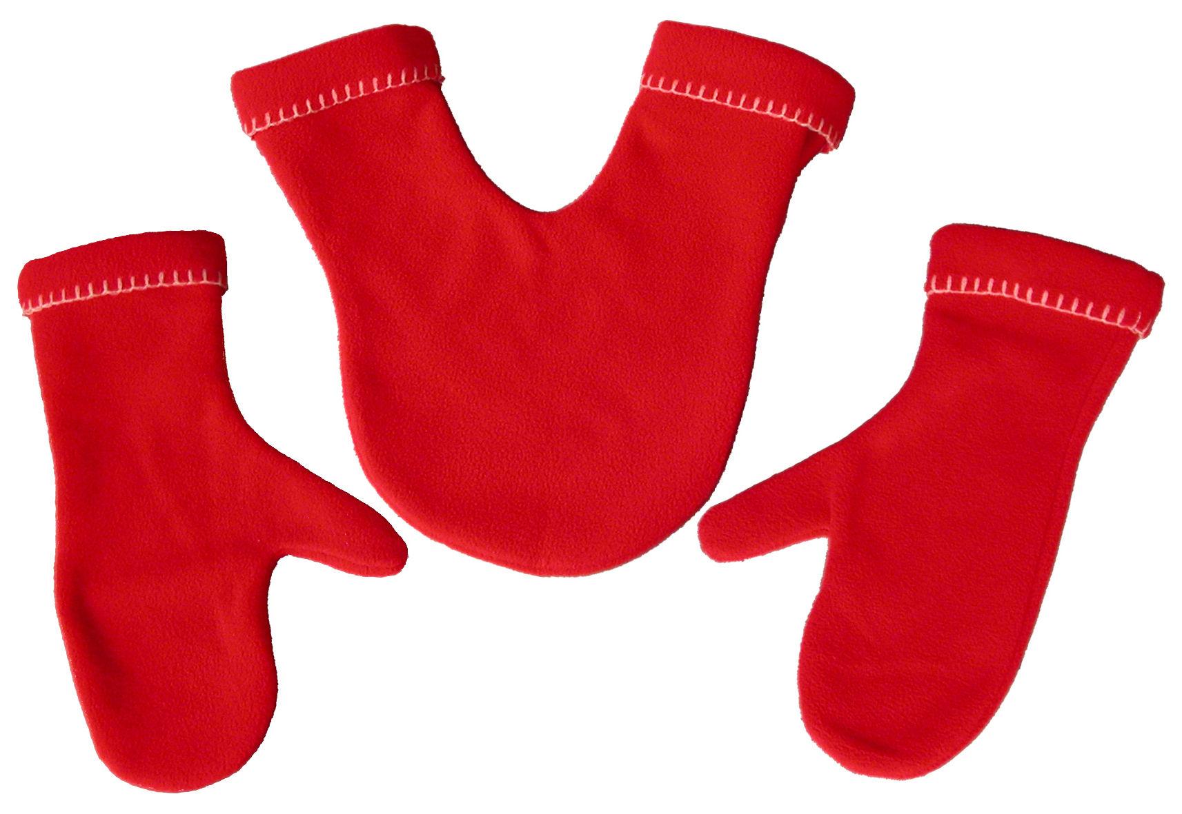 Accessoires - Chaussures et vêtements - Moufles Amoureux - Pa Design - Rouge - Laine