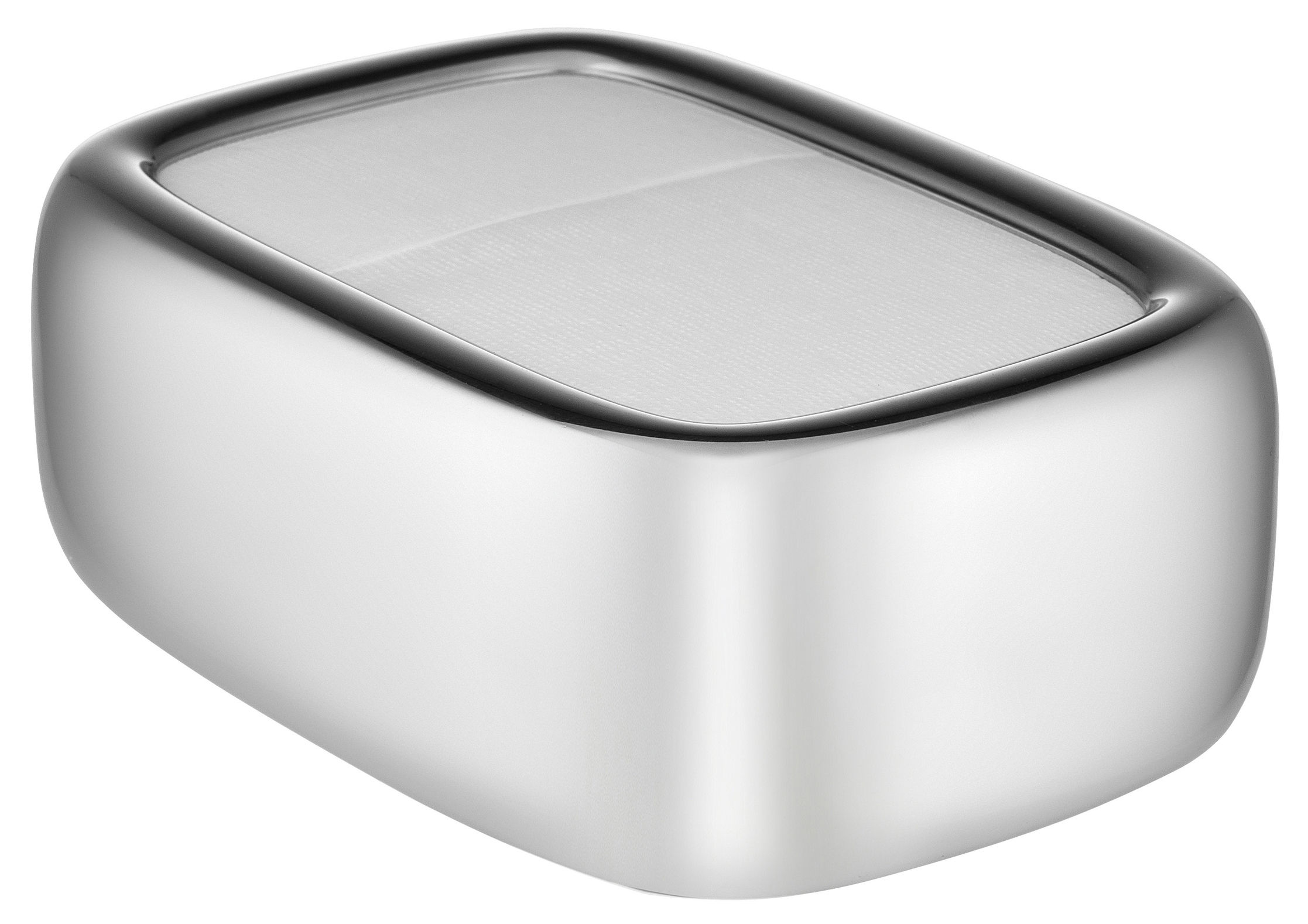 Tableware - Napkins & Tablecloths - Bibo Napkin holder - / L 15 x H 6 cm by Alessi - Steel - Stainless steel 18/10