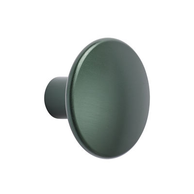 Mobilier - Portemanteaux, patères & portants - Patère The Dots Métal /  Ø 3,9 cm - Muuto - Vert foncé - Acier