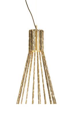 Lighting - Pendant Lighting - Batti.batti Medium Pendant - H 58 cm by Opinion Ciatti - 24 K gold - Hammered iron with with 18-carat gold plating