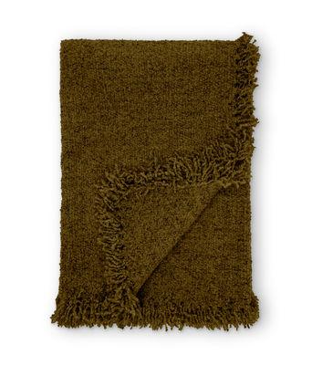 Plaid Boucle / Laine bouclée - 200 x 140 cm - Tom Dixon kaki en tissu