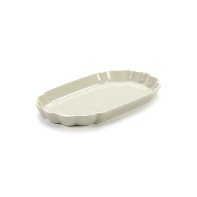 Tableware - Plates - Désirée Small Plate - / 22 x 12.5 cm by Serax - Small / White - China