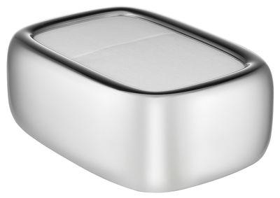 Porte-serviettes en papier Bibo / L 15 x H 6 cm - Alessi acier en métal
