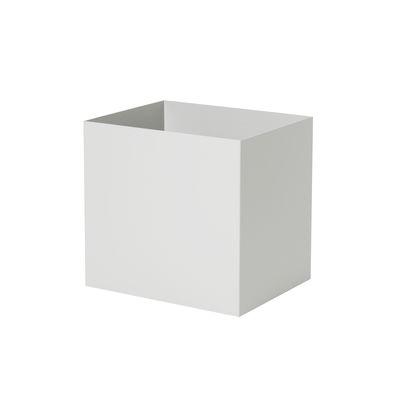 Pot / Pour jardinière Plant Box - Prof. 25 cm - Ferm Living gris en métal