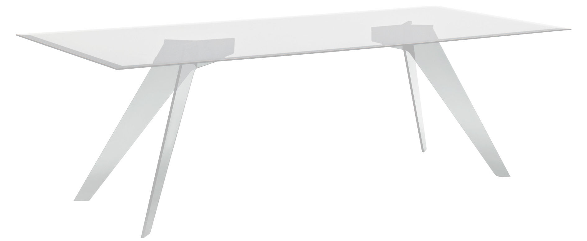 Furniture - Dining Tables - Alister Rectangular table - 210 x 90 cm by Glas Italia - 210 x 90 cm - Transparent glass - Glass