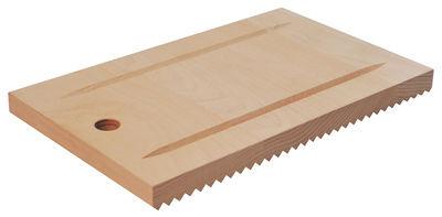 Küche - Küchenutensilien - Recto-verso Schneidebrett / 32 x 19 cm - L'Atelier du Vin - Holzfarben - Dampfbuche
