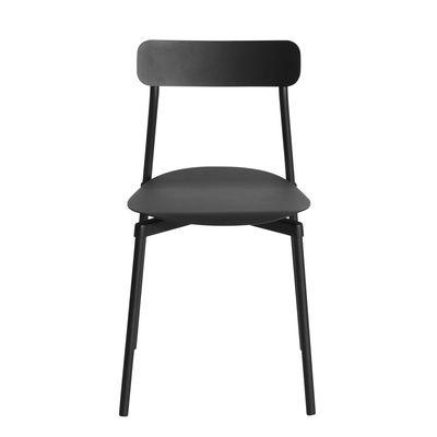 Arredamento - Sedie  - Sedia impilabile Fromme - / Alluminio di Petite Friture - Nero - Alluminio