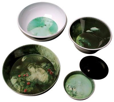 Service de table Yuan /8 pièces empilable - Ibride noir,vert en matière plastique