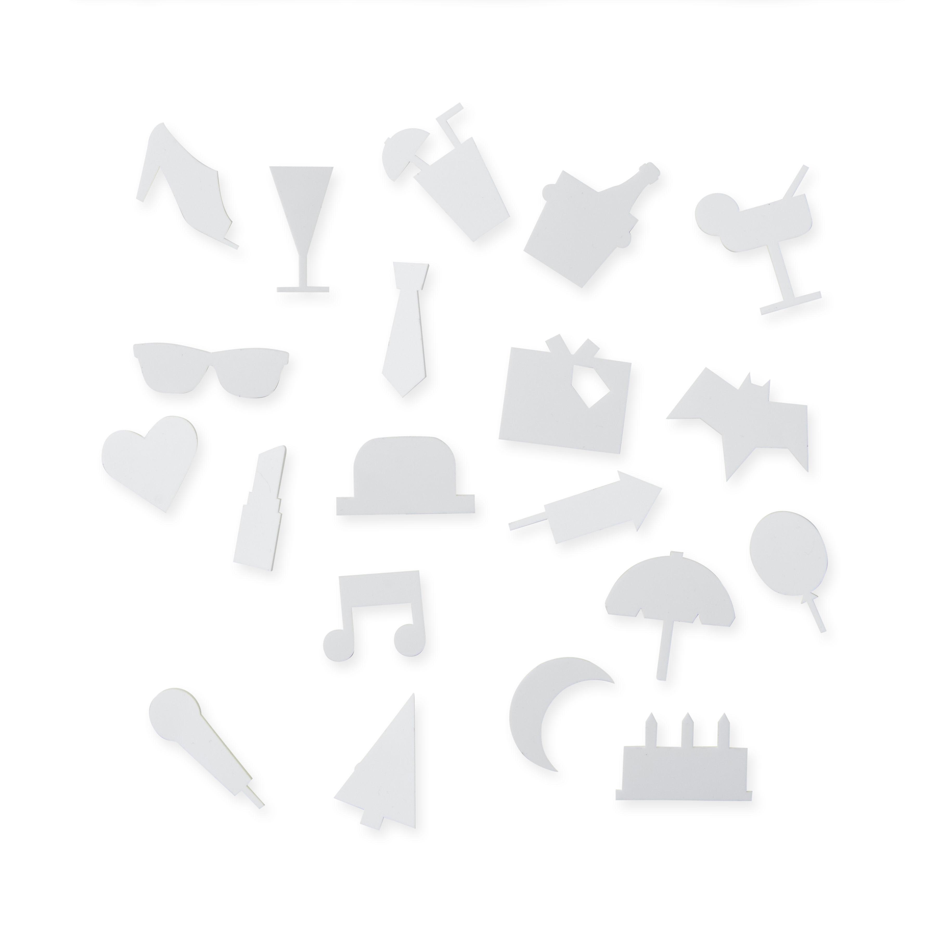 Decoration - Memo Boards & Calendars  - Symboles Party Set - / pour tableau perforé by Design Letters - Blanc - ABS, Polymethyl methacrylate