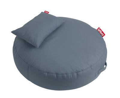 Möbel - Sitzkissen - Pupillow Sitzkissen / mit Kissen - Ø 120 cm - Fatboy - Stahlblau - EPS, Polyacryl, Schaumstoff
