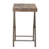 Small folding table - / Recycled wood - 67 x 50 cm by Bloomingville