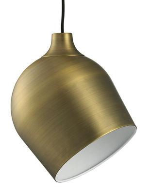Illuminazione - Lampadari - Sospensione Rotate - / Ø 21 cm - Ottone spazzolato di Bolia - Ottone - Acciaio