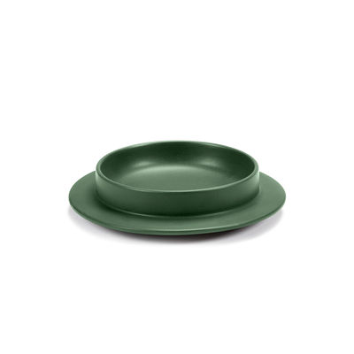Tableware - Plates - Dishes to Dishes - Grès Soup plate - / Low - Ø 20.5 x H 4.8 cm by valerie objects - Green - Sandstone