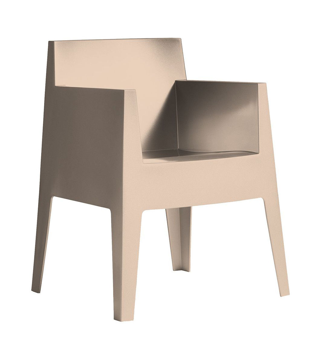 Furniture - Chairs - Toy Stackable armchair by Driade - Powdered beige - Polypropylene