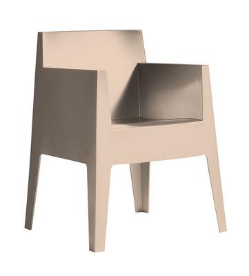 Toy Stapelbarer Sessel - Driade - Beige, gepudert
