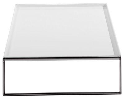 Table basse Trays carré - 80 x 80 cm - Kartell blanc en matière plastique