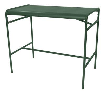 Table haute Luxembourg / 4 personnes - 126 x 73 cm - Aluminium - Fermob cèdre en métal