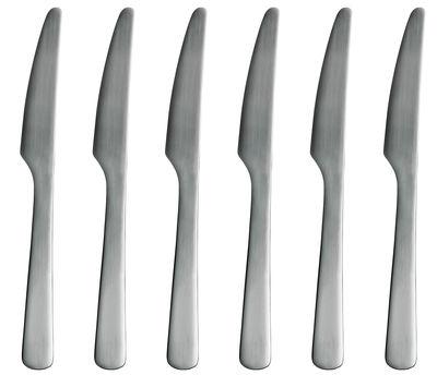 Tableware - Cutlery - Normann Table knife - Set of 6 knives by Normann Copenhagen - Mat steel - Steel