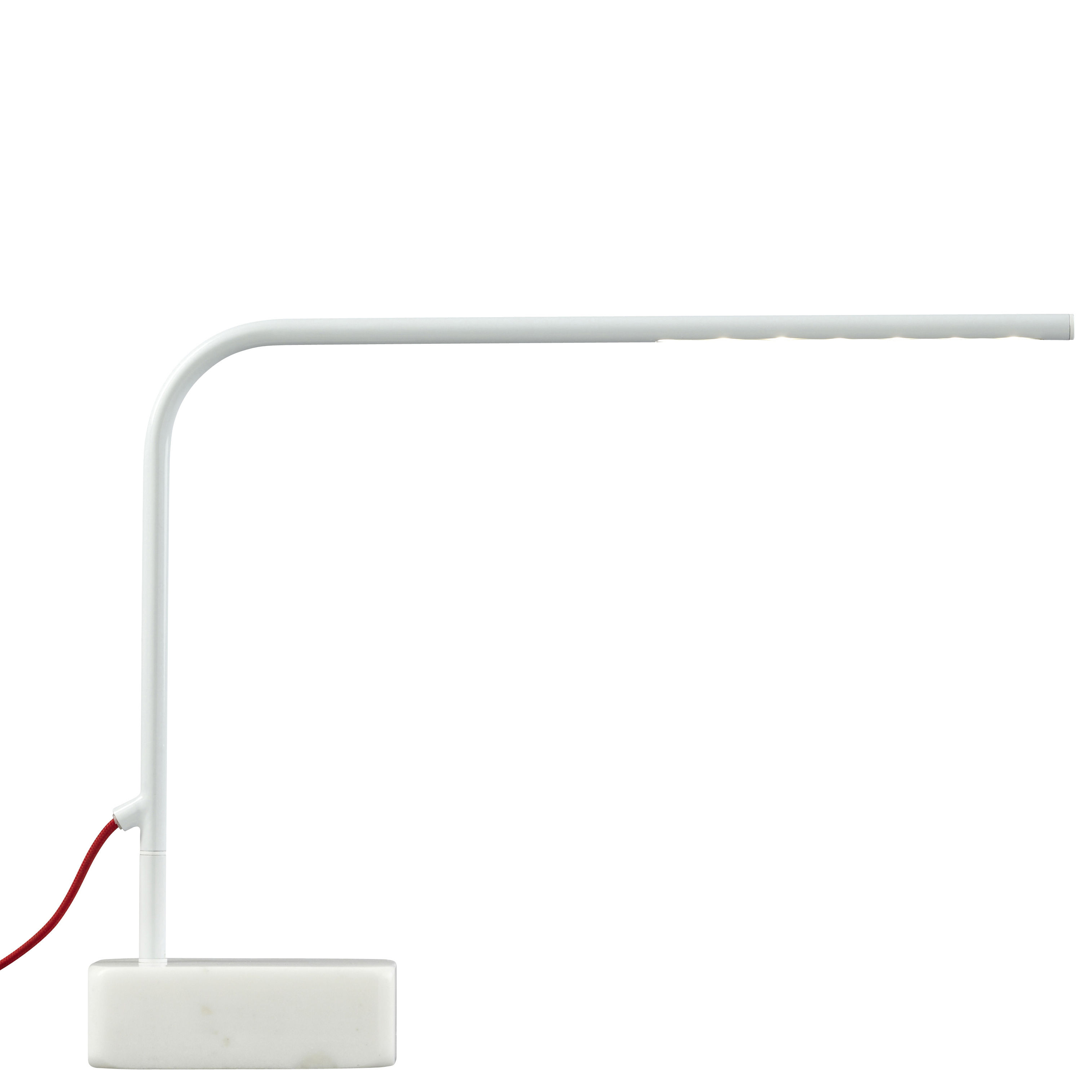 Lighting - Table Lamps - Birdy Low Table lamp - LED - H 35 cm by Forestier - White - Lacquered metal, Marble