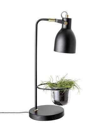 Lighting - Table Lamps - Table lamp - / Avec pot de fleurs - Ø 18 cm by Bloomingville - Black - Glass, Metal