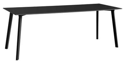 Tendances - Autour du repas - Table rectangulaire Copenhague CPH DEUX 210 / 200 x 75 cm - Hay - Noir - Hêtre peint, Laminé, Stratifié