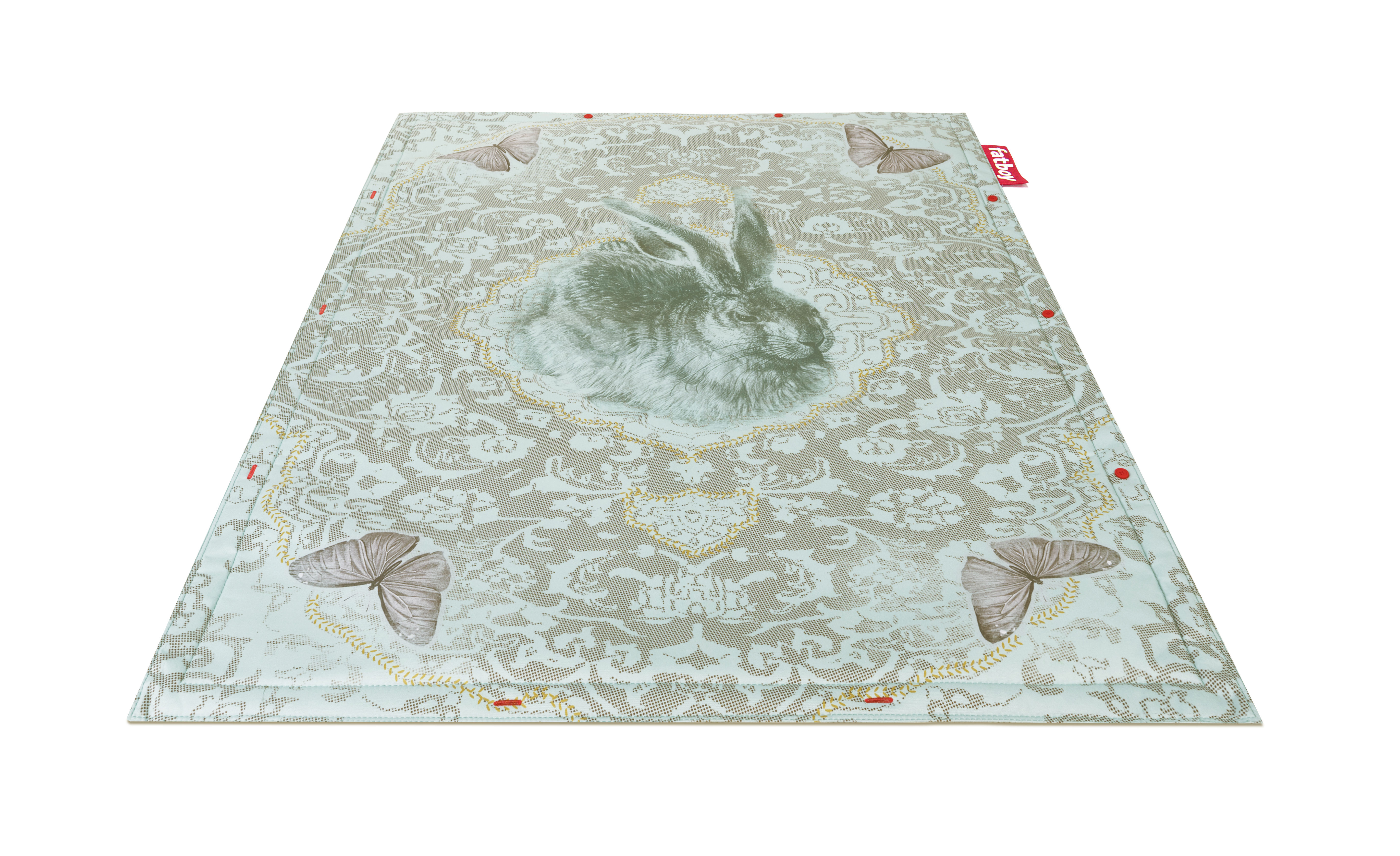 Déco - Tapis - Tapis Non Flying Carpet / Roger - 180 x 140 cm - Fatboy - Lapin / Bleu-vert - Mousse, Tissu polyester