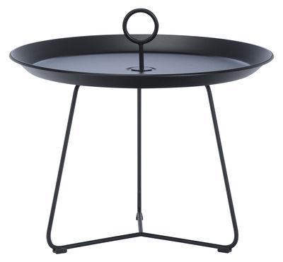 Arredamento - Tavolini  - Tavolino basso Eyelet Medium / Ø 60 x H 43,5 cm - Houe - Nero - Metallo rivestito in resina epossidica
