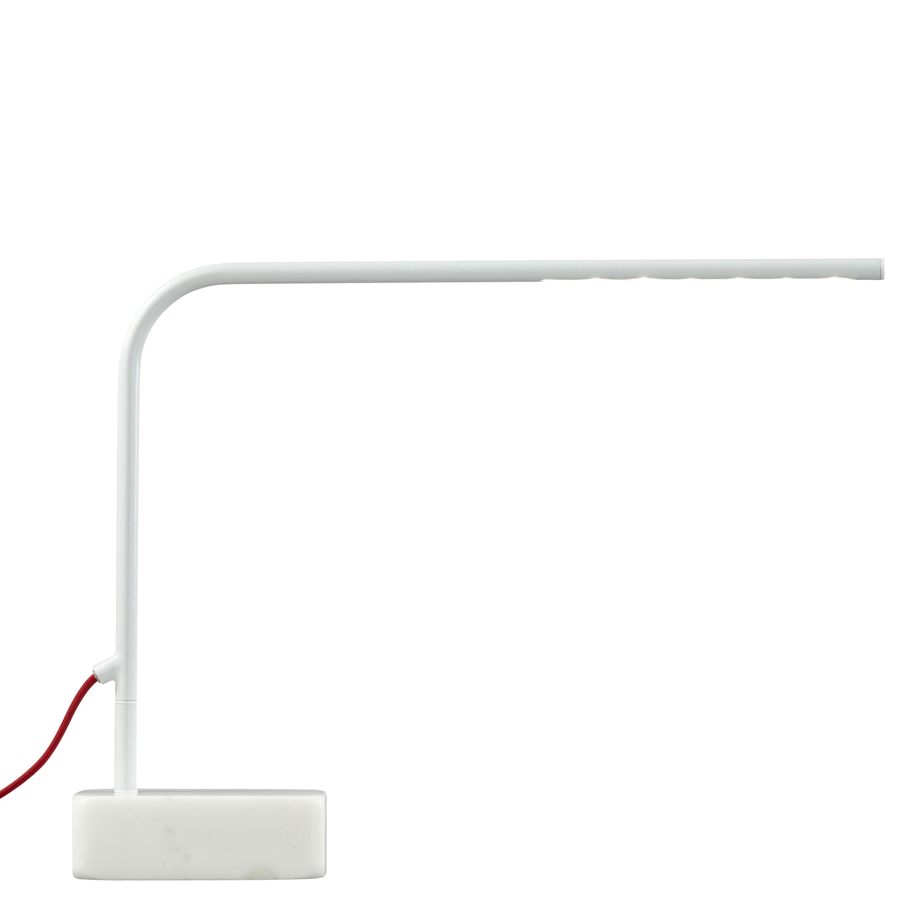 Leuchten - Tischleuchten - Birdy Low Tischleuchte LED - H 35 cm - Forestier - Weiß - Low - H 35 cm - lackiertes Metall, Marmor