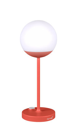 Lighting - Table Lamps - Mooon! LED Wireless lamp - / H 41 cm - USB recharging by Fermob - Orangey-red - Aluminium, Polythene
