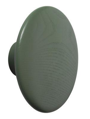 Arredamento - Appendiabiti  - Appendiabiti The Dots Wood - / Large - Ø 17 cm di Muuto - Verde Dusty - Frassino tinto