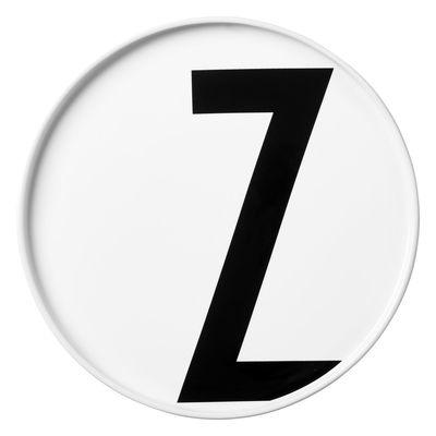 Assiette A-Z / Porcelaine - Lettre Z - Ø 20 cm - Design Letters blanc en céramique