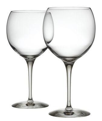 Tavola - Bicchieri  - Bicchiere vino rosso Mami XL - / Set da 2 - Per vini rossi di Alessi - Trasparente - Vetro cristallino