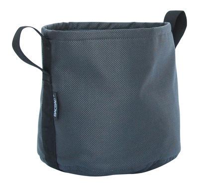 Outdoor - Töpfe und Pflanzen - Batyline® Blumentopf / Outdoor-Version - 10 l - Bacsac - Asphalt/schwarz - Toile Batyline®